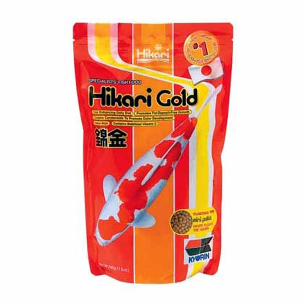 Hikari gold koi food mini sheerwater pond for Hikari koi food