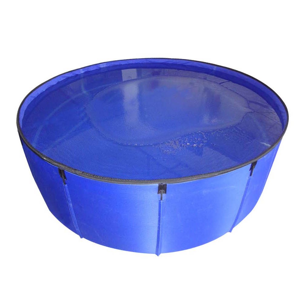 Koi portable show tank 350 gallon blue sheerwater for Koi tank size